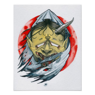 One-Eyed Hannya Poster