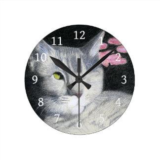 One Eyed Jack Round Clock