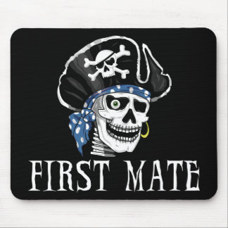 One-eyed Pirate First Mate Mouse Pad