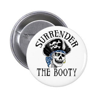 One-eyed Pirate Skull and Crossbones Pinback Buttons