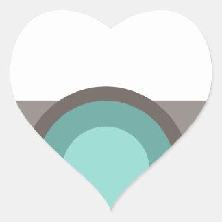 One Eyed Robot Heart Sticker