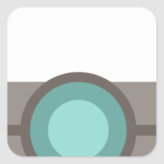 One Eyed Robot Square Sticker