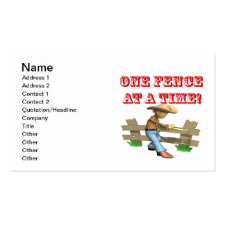 One Fence At A Time Pack Of Standard Business Cards