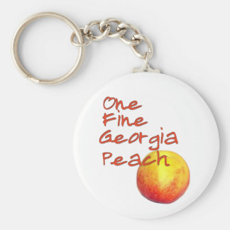 One Fine Georgia Peach Basic Round Button Key Ring