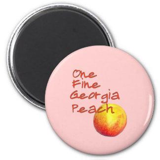 One Fine Georgia Peach 6 Cm Round Magnet