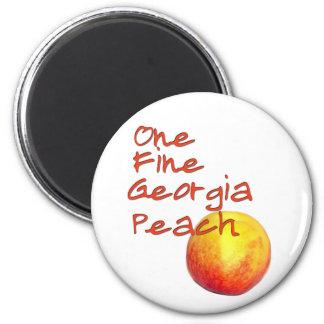 One Fine Georgia Peach Refrigerator Magnets