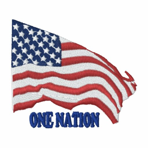 One Flag One Nation Embroidered Shirts