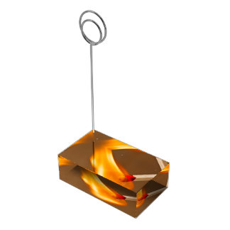 One flame of fire place card holder