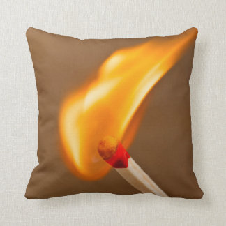 One Flame of Fire Throw Pillow