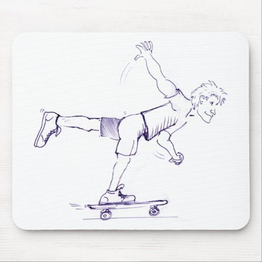 One Foot Rough Skateboarder Mousepad