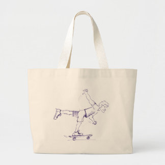 One Foot Rough Skateboarder Canvas Bag