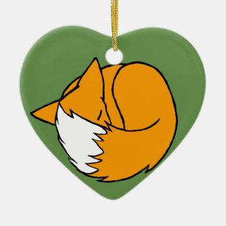 One Fox Ceramic Ornament