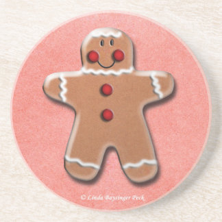 One Gingerbread Cookie Coaster