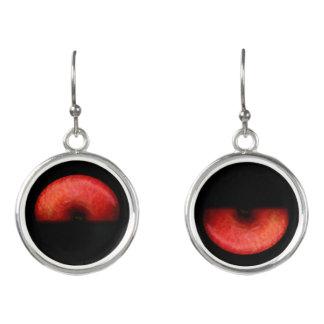 One Half of Red Apple Fine Art Photograph Earrings