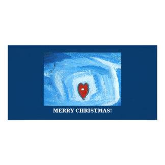 ONE HEART/CHRISTMAS CUSTOM PHOTO CARD