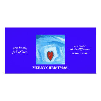 ONE HEART/CHRISTMAS PERSONALIZED PHOTO CARD