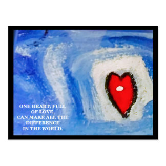 ONE HEART/CHRISTMAS POSTCARD