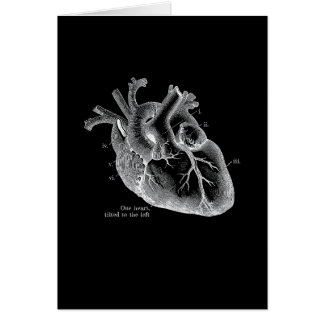 One heart, tilted to the left card