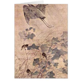 One Heron On Malvenbaum By Matsumura Goshun Card