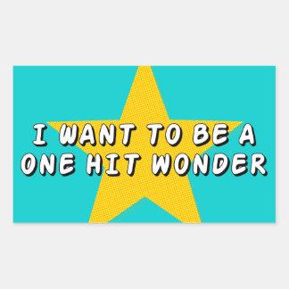 One Hit Wonder Rectangular Sticker