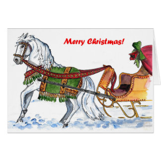 One Horse Open Sleigh Card