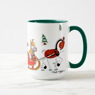 One Horse Open Sleigh Horse Cartoon Mug