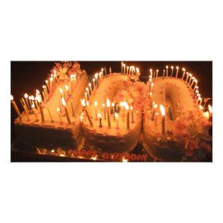 One Hundred Candle Cake Personalised Photo Card