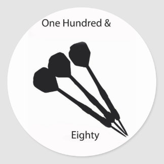 one hundred eighty round stickers