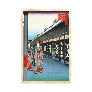 One Hundred Famous Views of Edo Ando Hiroshige Canvas Print