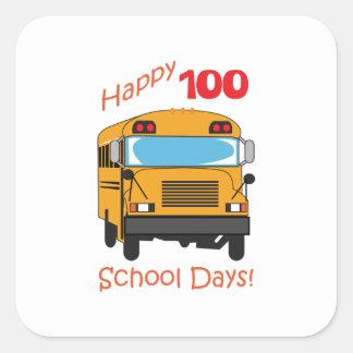ONE HUNDRED SCHOOL DAYS SQUARE STICKER