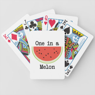 One in a Melon Bicycle Playing Cards