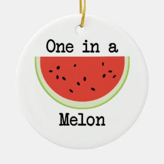 One in a Melon Ceramic Ornament