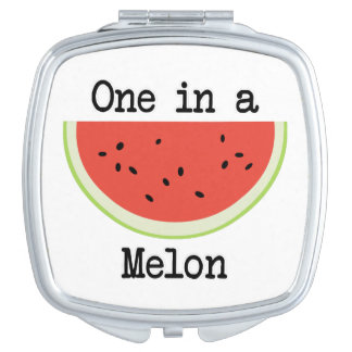 One in a Melon Compact Mirrors