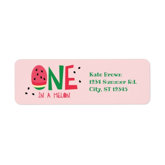 One in a Melon First Birthday Address Label