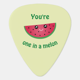 One In A Melon Funny Cute Kawaii Watermelon Guitar Pick