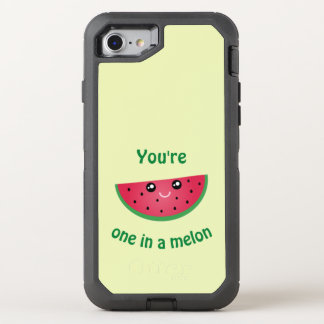 One In A Melon Funny Cute Kawaii Watermelon OtterBox Defender iPhone 7 Case