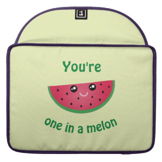 One In A Melon Funny Cute Kawaii Watermelon Sleeve For MacBooks