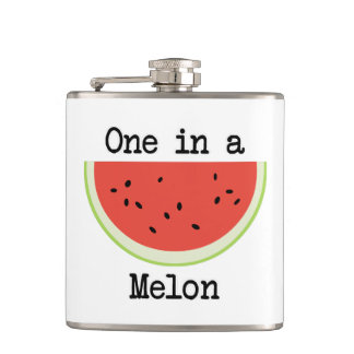 One in a Melon Hip Flask