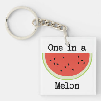 One in a Melon Key Ring