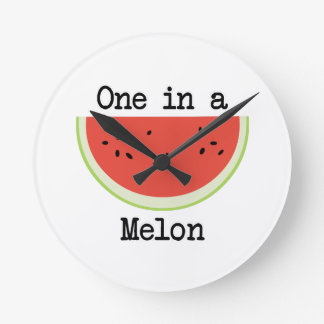 One in a Melon Round Clock