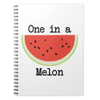 One in a Melon Spiral Notebook