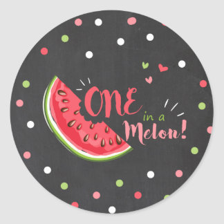 One in a melon Watermelon Tags Envelope Sticker