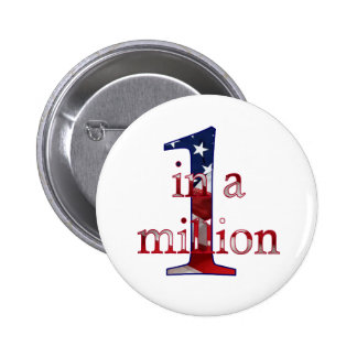 One In A Million 6 Cm Round Badge