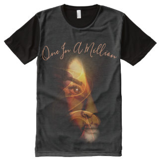 One in a Million Abstract Face All-Over Print T-Shirt
