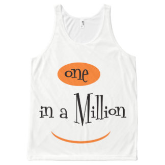 ONE IN A MILLION  AllOver Printed Unisex Tank All-Over Print Tank Top