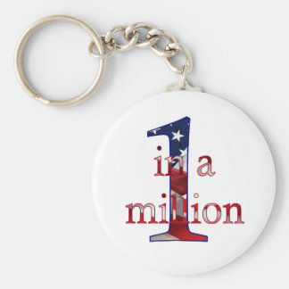 One In A Million Basic Round Button Key Ring