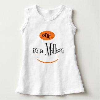 ONE IN A MILLION CARTOON CUTE Baby Sleeveless Dress