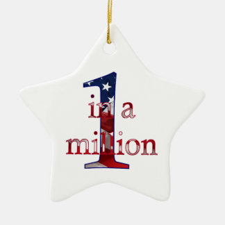 One In A Million Ceramic Star Decoration