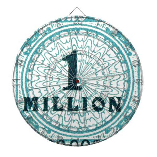 One In A Million Dartboard With Darts