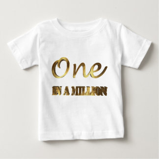 One in a million Elegant Gold Brown Typography Baby T-Shirt